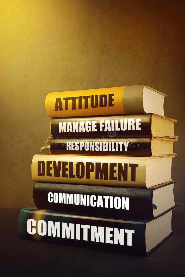 Business Leadership Attributes and Features in Literature royalty free stock image