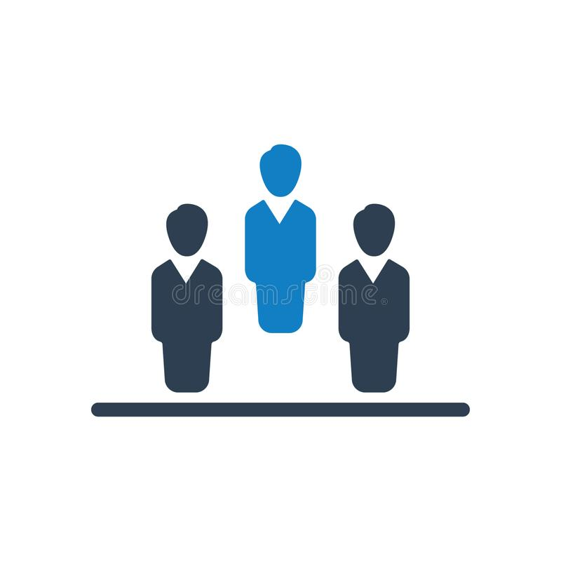 Business leadership, crowd, team icon. You can use this icon any kind of web and print design vector illustration