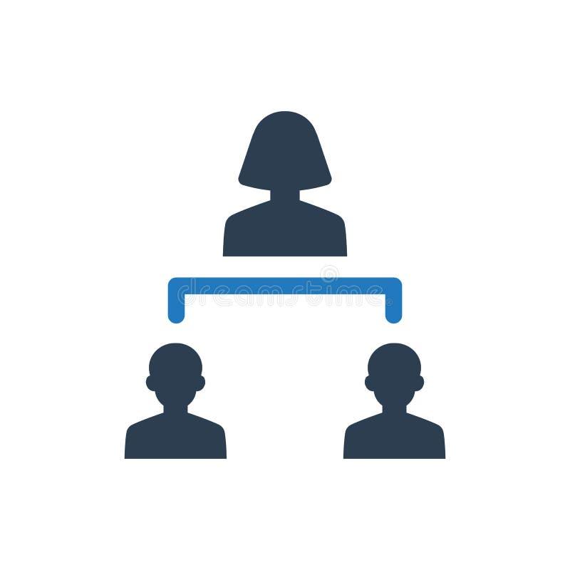 Business leadership icon vector illustration