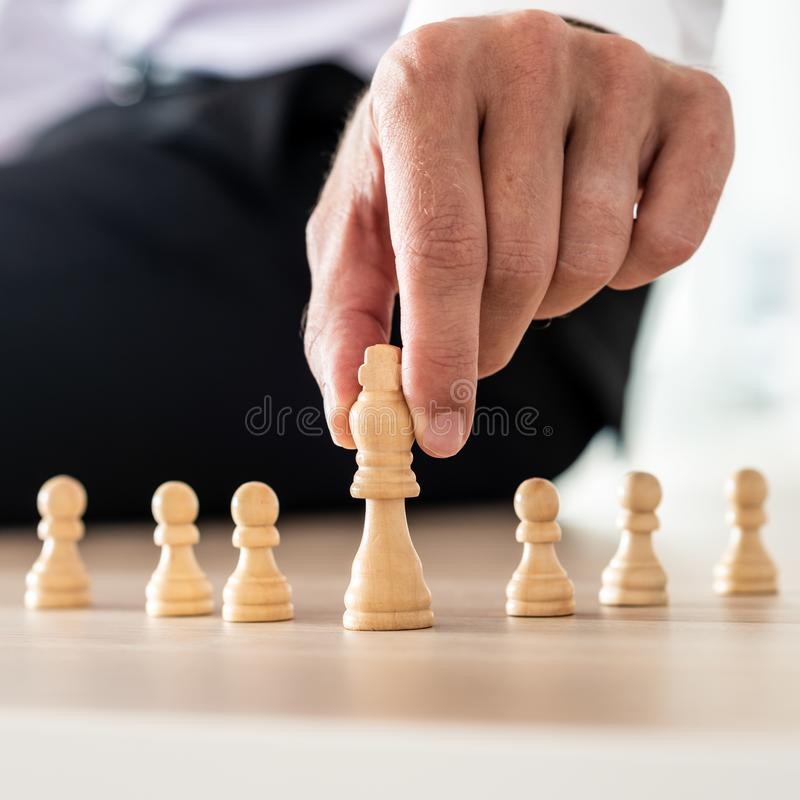 Business leadership and power concept royalty free stock image