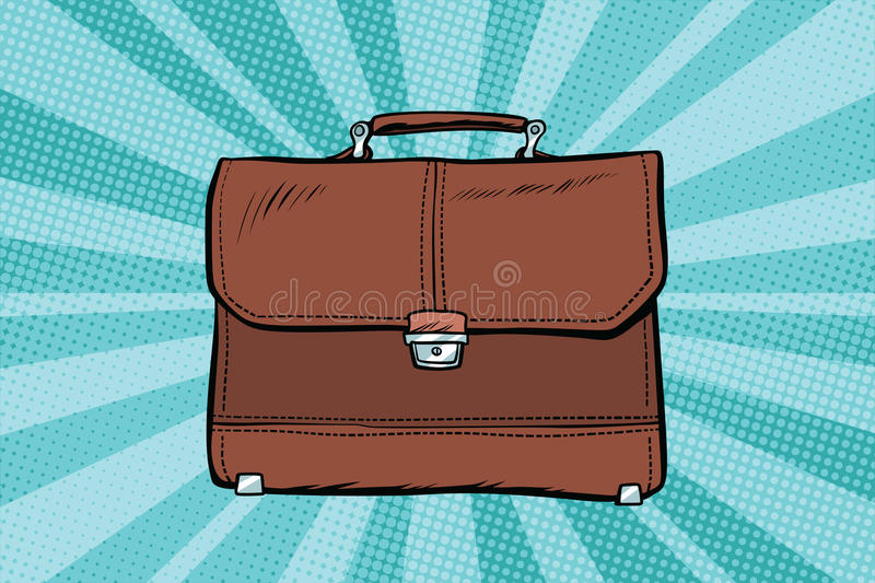 Business leather briefcase royalty free illustration