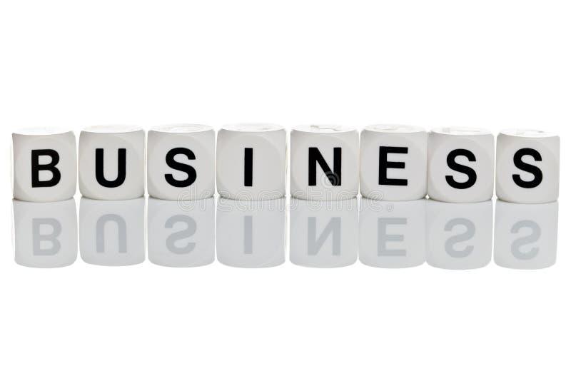 Business in letter blocks
