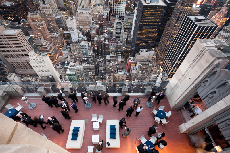 Business life from top of the roof royalty free stock images