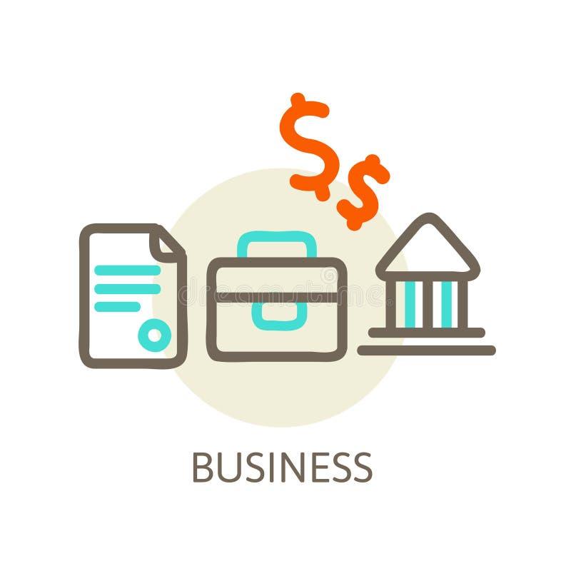 Business. Line concept vector illustration eps 10 stock illustration