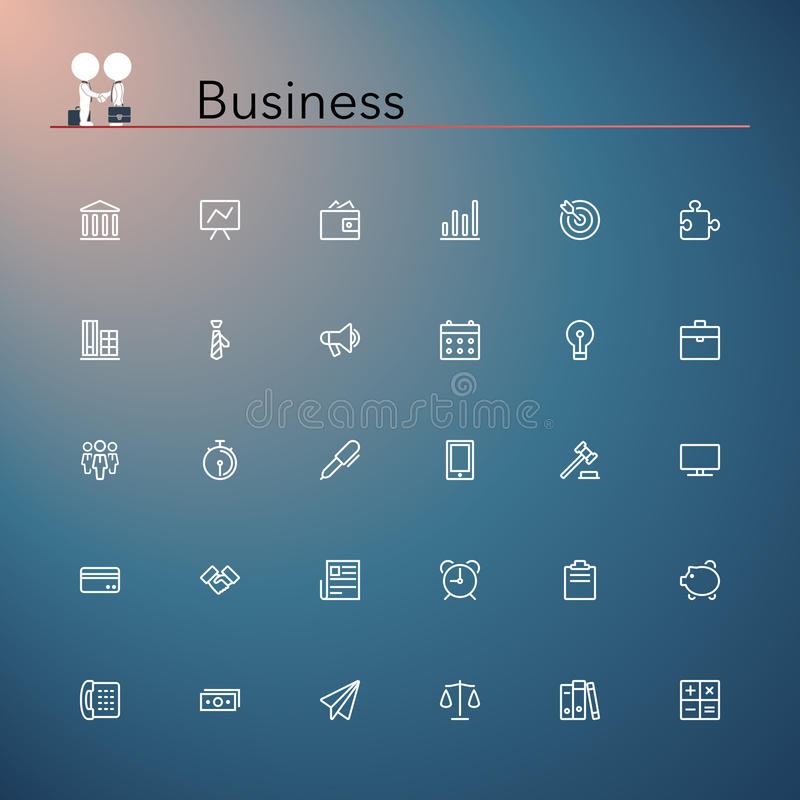Business Line Icons vector illustration