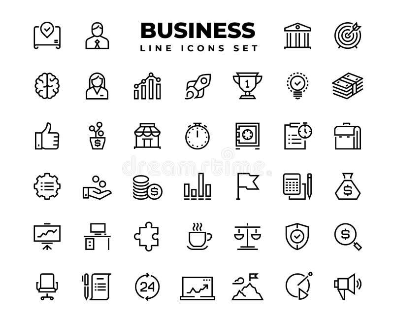 Business line icons. Finance target service support career award presentation idea strategy solution. Business vector. Business line icons. Finance target stock illustration