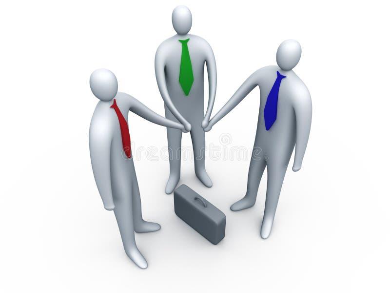 Business link #1 vector illustration
