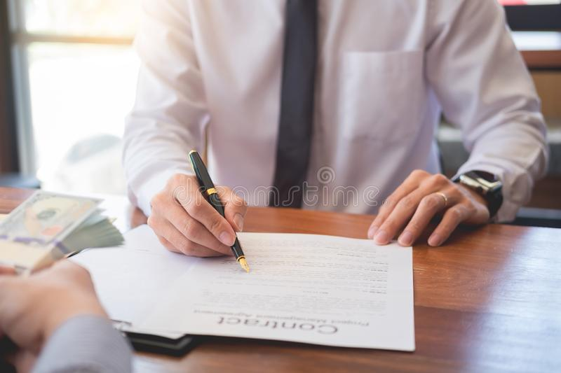 Business load for buy house concept.  stock photos