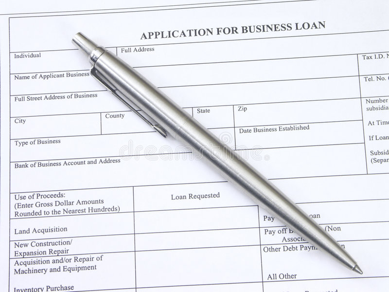 Business Loan Application stock photography