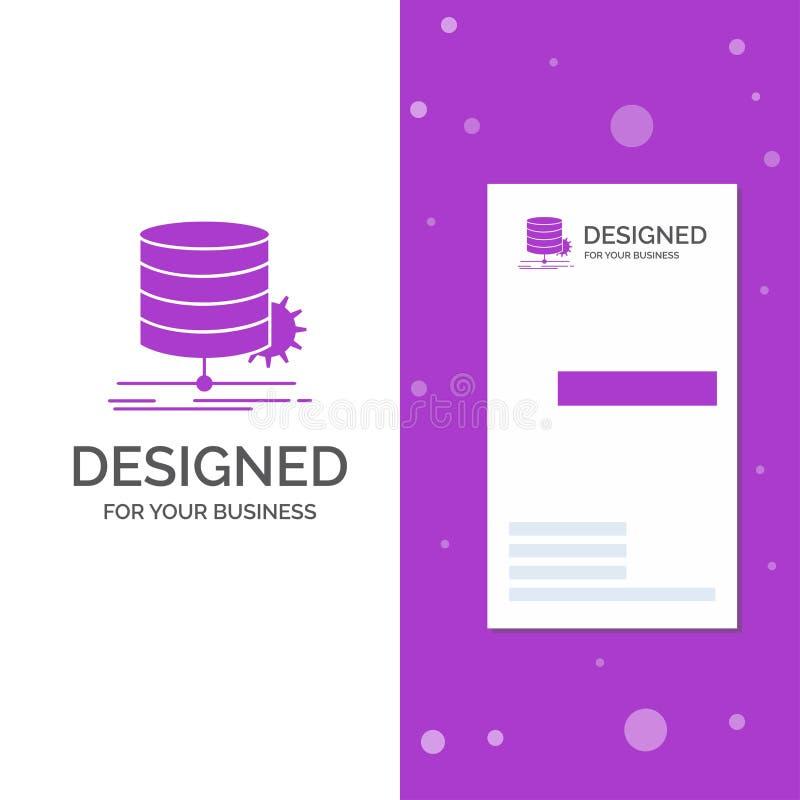 Business Logo for Algorithm, chart, data, diagram, flow. Vertical Purple Business / Visiting Card template. Creative background. Vector illustration. Vector vector illustration