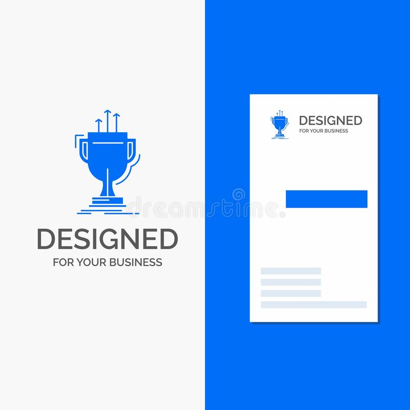 Business Logo for award, competitive, cup, edge, prize. Vertical Blue Business / Visiting Card template. Vector EPS10 Abstract Template background vector illustration