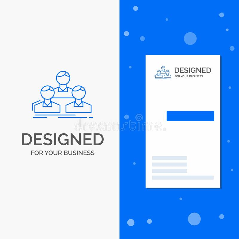 Business Logo for Company, employee, group, people, team. Vertical Blue Business / Visiting Card template. Vector EPS10 Abstract Template background stock illustration