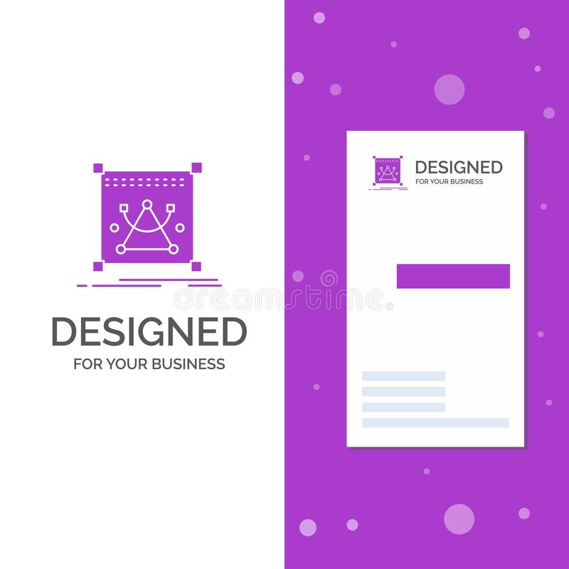 Business Logo for 3d, edit, editing, object, resize. Vertical Purple Business / Visiting Card template. Creative background vector. Illustration. Vector EPS10 stock illustration