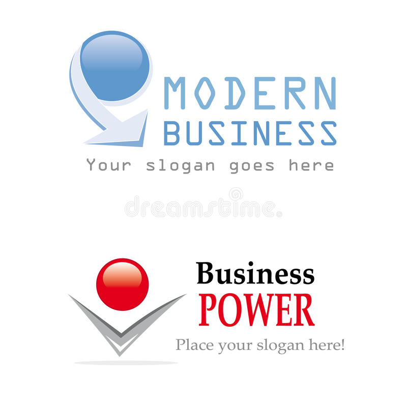 Business logo design royalty free illustration