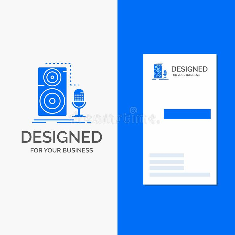 Live, Mic, Microphone, Record, Sound Logo Design  Blue And