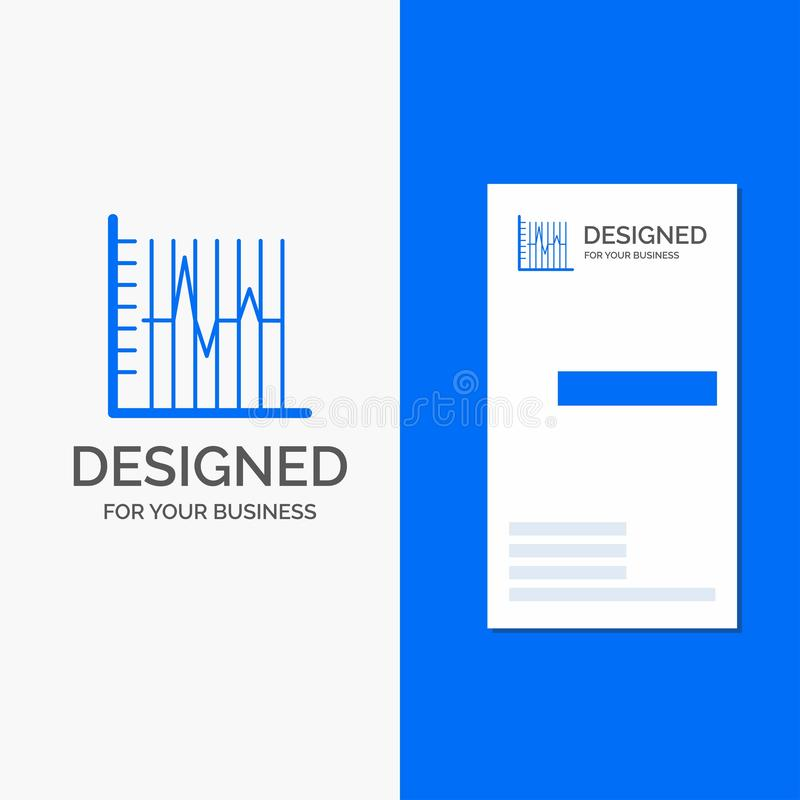 Business Logo for progress, report, statistics, patient, recovery. Vertical Blue Business / Visiting Card template. Vector EPS10 Abstract Template background stock illustration