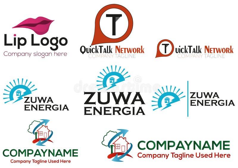 Business logo set royalty free stock photo