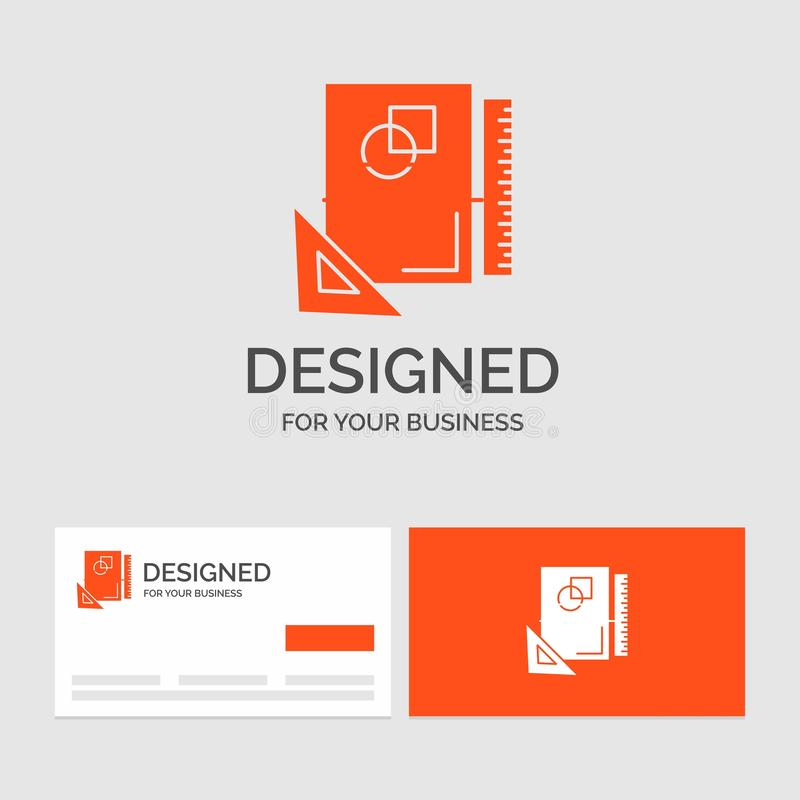 Business logo template for Design, layout, page, sketch, sketching. Orange Visiting Cards with Brand logo template. Vector EPS10 Abstract Template background vector illustration
