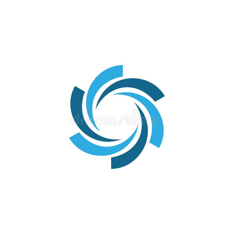 Business logo, vortex, wave and spiral icon. Vector template, hurricane, swirl, design, tornado, abstract, motion, circle, symbol, illustration, art, shape royalty free illustration