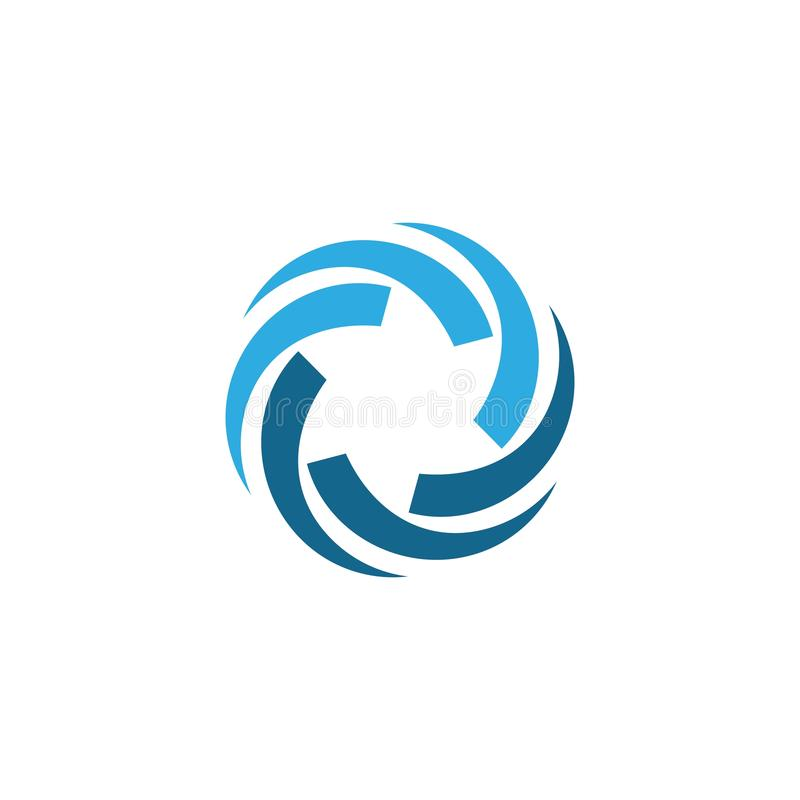 Business logo, vortex, wave and spiral icon. Vector template, hurricane, swirl, design, tornado, abstract, motion, circle, symbol, illustration, art, shape stock illustration