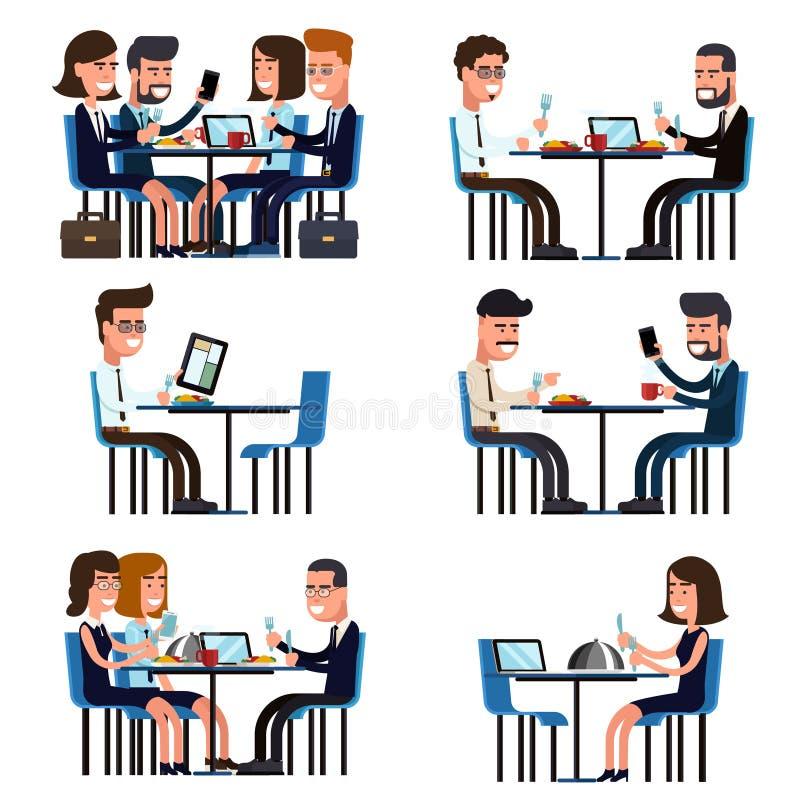 Business lunch break vector illustration