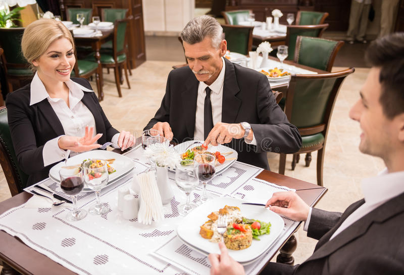 Business lunch royalty free stock images