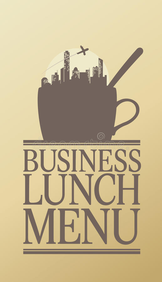 Download Business Lunch menu. stock vector. Illustration of continental - 22390788