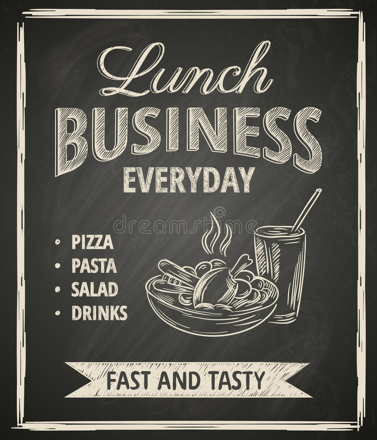 Business lunch poster royalty free illustration