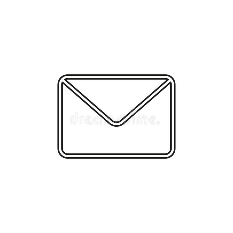 Business mail concept line icon. Simple element illustration. business mail concept outline symbol design. Can be used for web and mobile UI UX. Thin line stock illustration