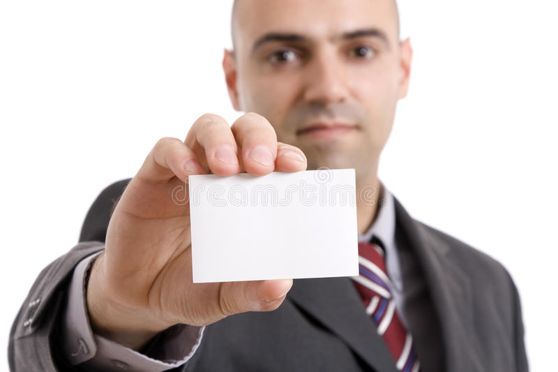 Download Business man stock photo. Image of isolated, copy, card - 11127816