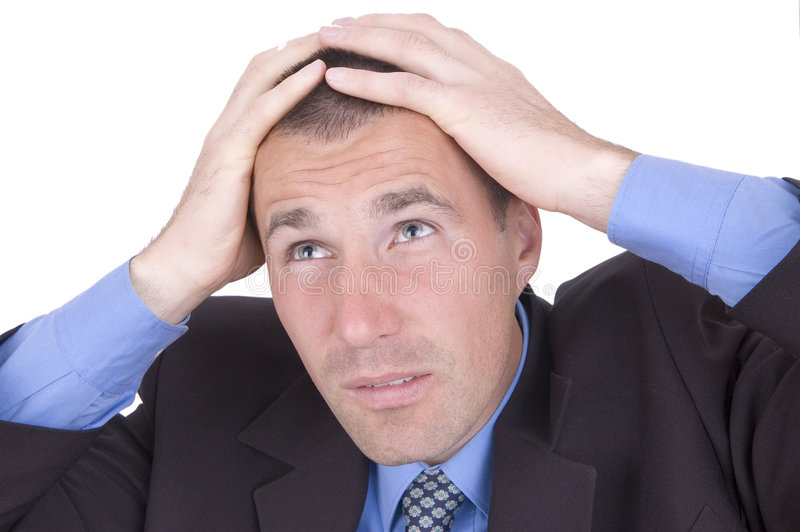Download Business man stock image. Image of problems, phone, business - 1407835