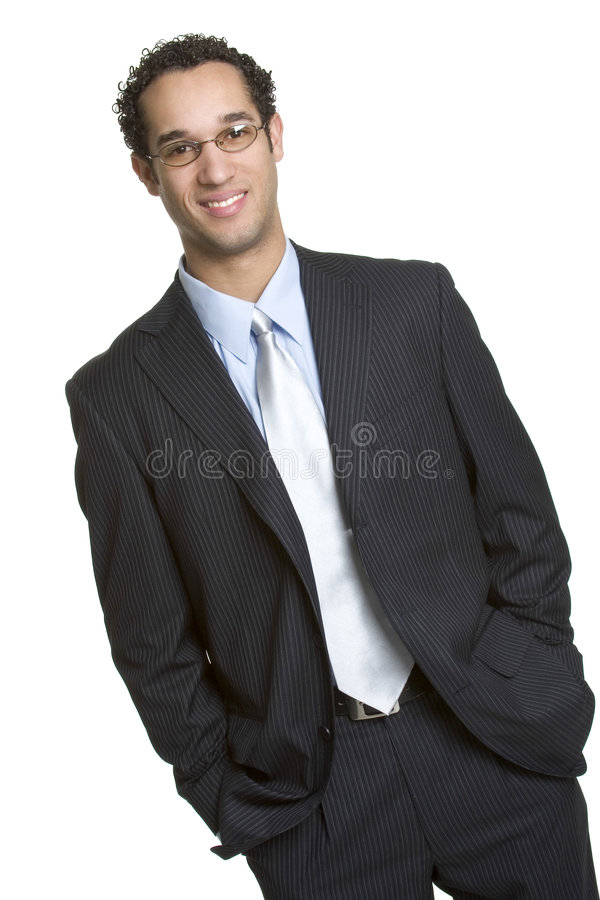 Business Man. Handsome smiling business man isolated royalty free stock photos