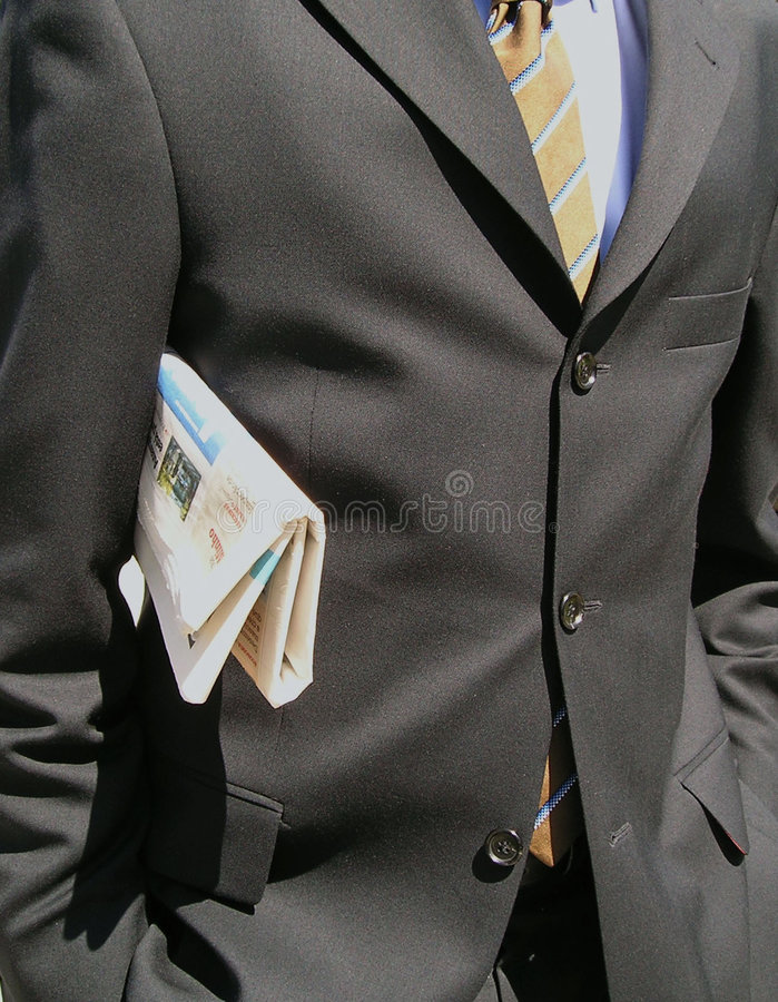 Download Business Man stock image. Image of suit, brown, newspaper - 225519
