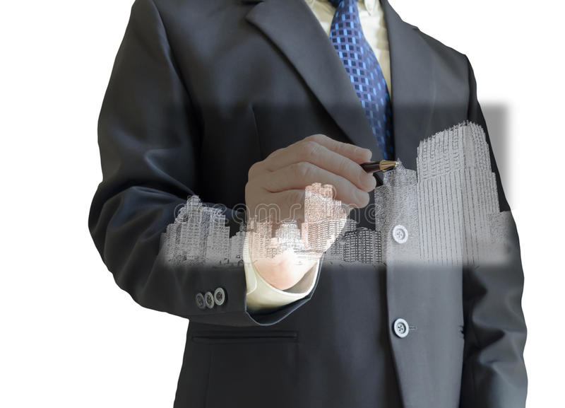 Download Business Man stock image. Image of white, pointing, write - 28209499