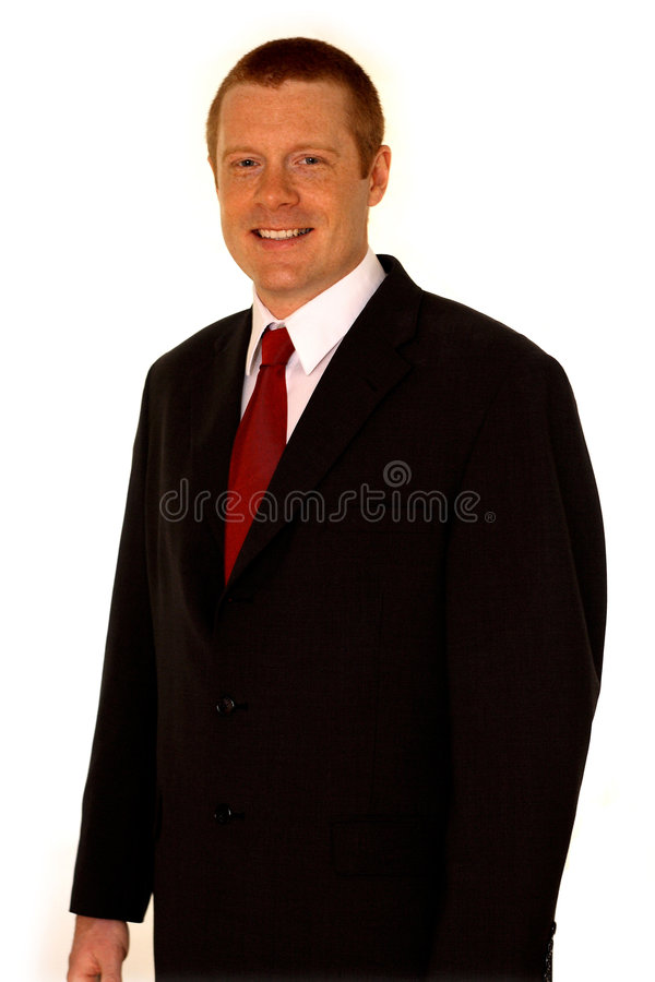 Business Man. Smiling Business Man in Suit with removable background royalty free stock images