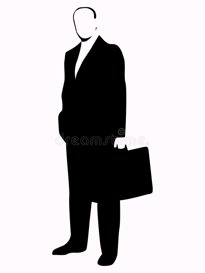 Business Man. Silhouette vector illustration
