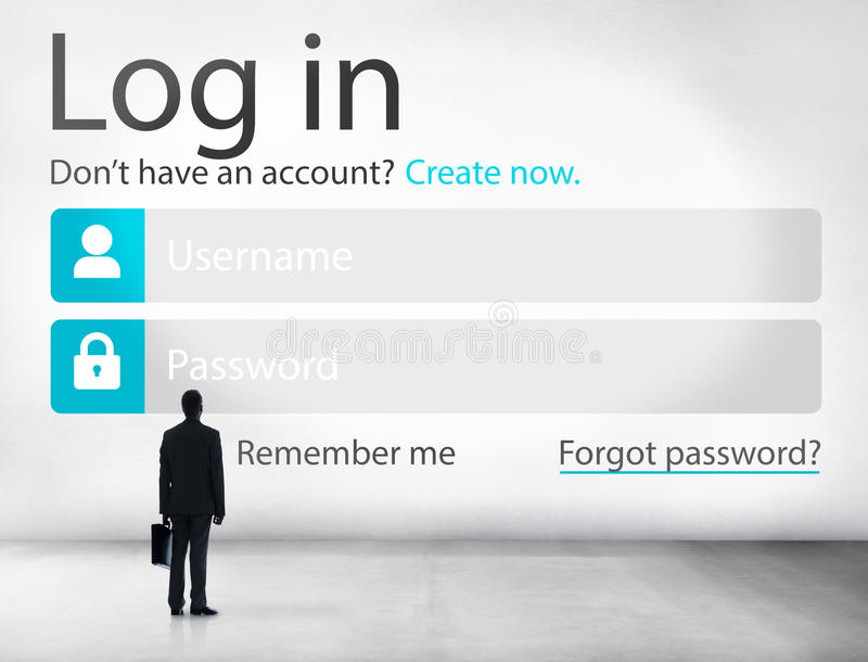 Business Man Account LogIn Security Protection Concept Stock