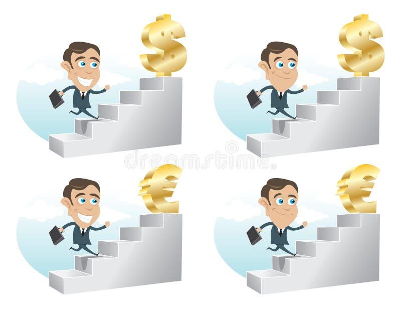Business Man Achivement stock illustration