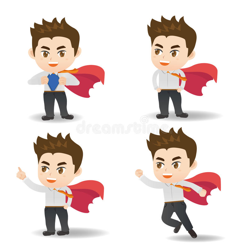 Business man act as superman royalty free illustration