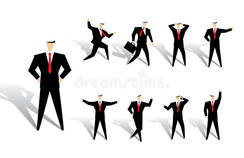 Download Business man action stock vector. Illustration of briefcase - 20934114