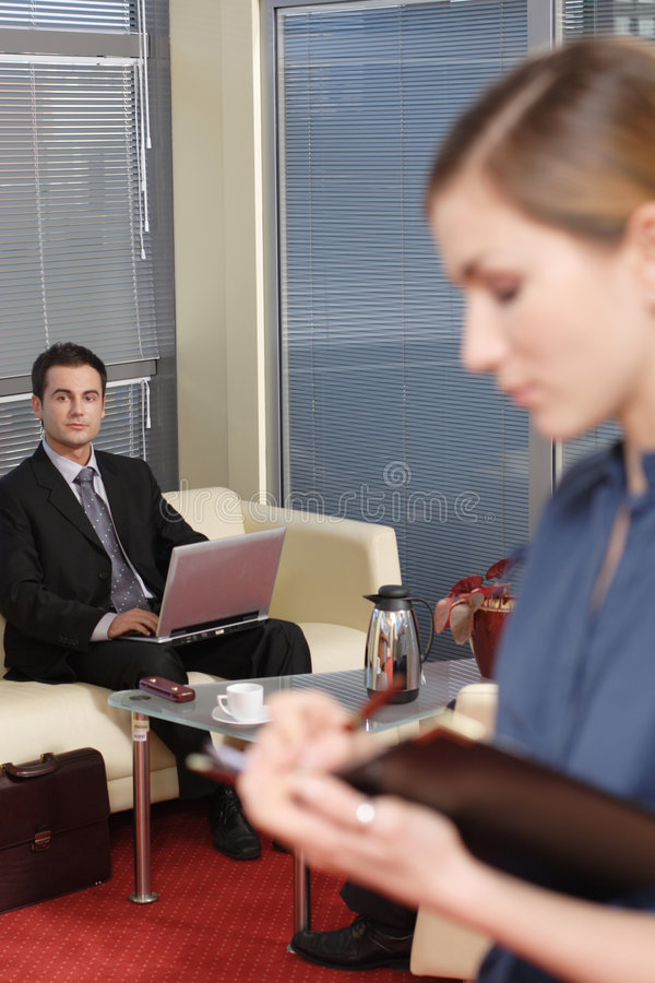 Free Business Man And Woman In The Office Part 2 Stock Photos - 1641423