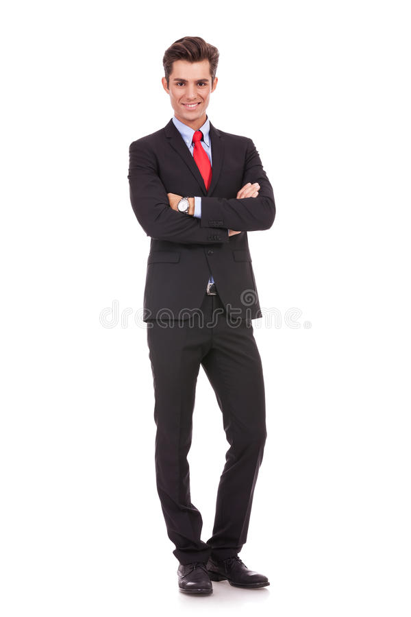 Business Man With Arms Crossed Stock Images