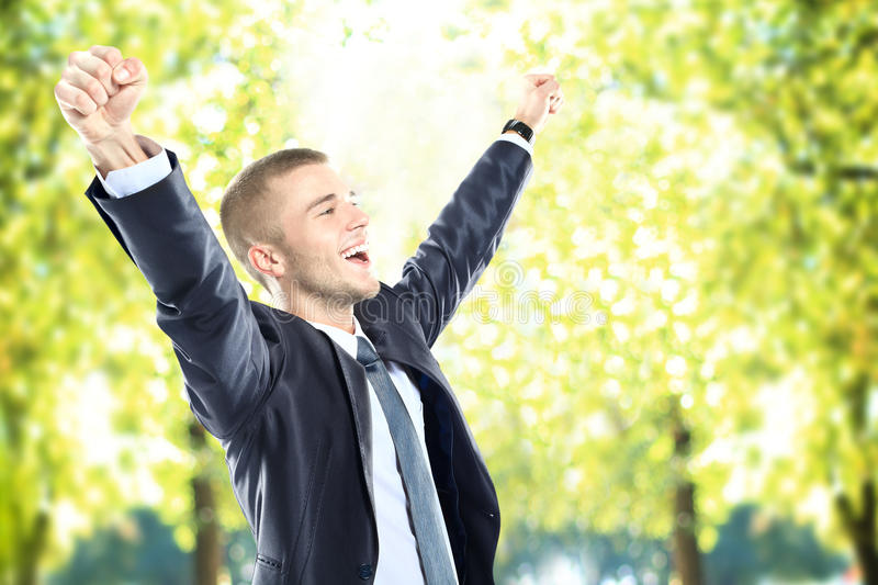 Download Business Man With Arms Open Stock Photo - Image: 32690690