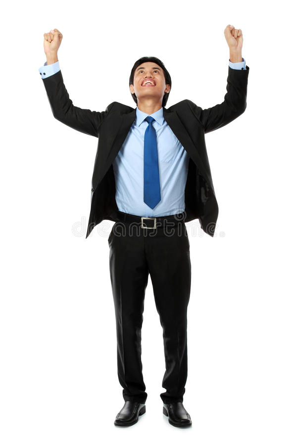 Download Business Man With Arms Raised Stock Image - Image: 25569895