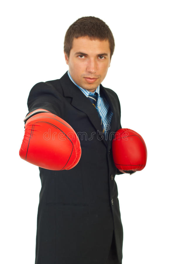 Business man attack
