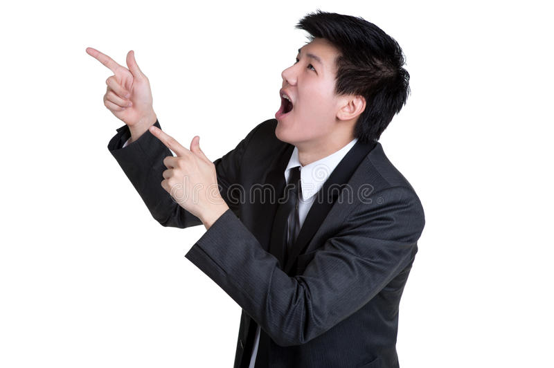 Download Business Man Attractive Smart Point Suit Stock Photo - Image: 35738710