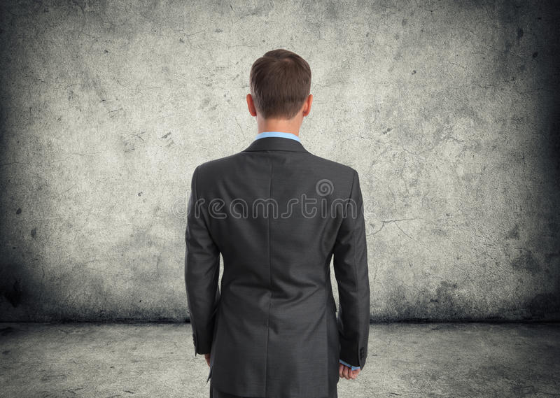 Business man back view stock photography