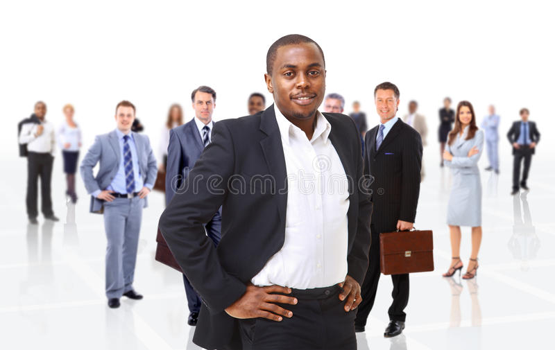 Business man on a background