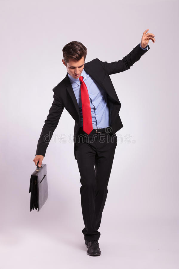 Download Business Man Balancing On Rope Royalty Free Stock Images - Image: 29636129