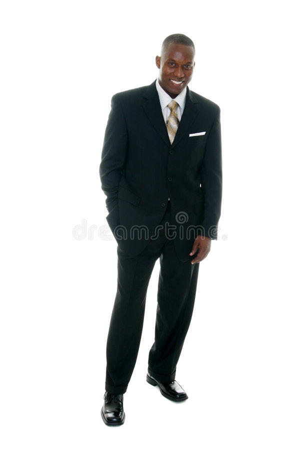 Business Man In Black Suit 2 Royalty Free Stock Images